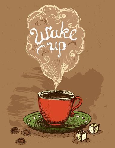 Vakna kaffekoppen vektor