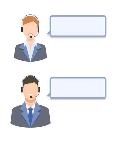 Call center agenter vektor