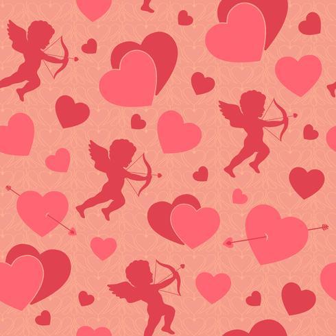 Alla hjärtans dag sömlösa romantiska mönster vektor