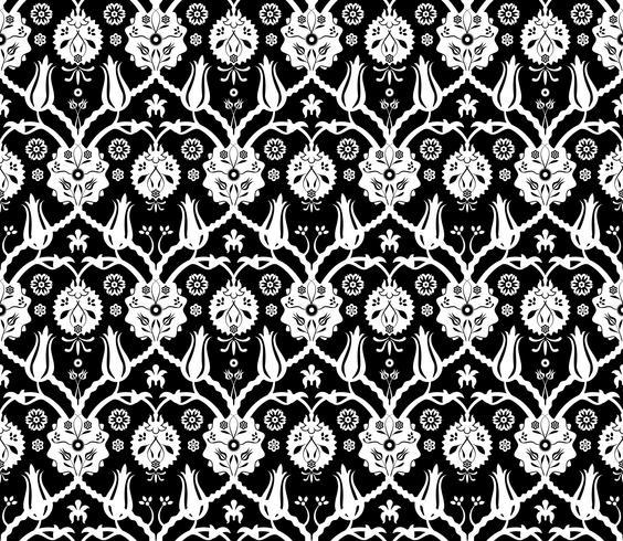 Blom arabiska mönster vektor