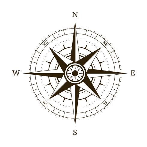 Kompass vindrosa vektor