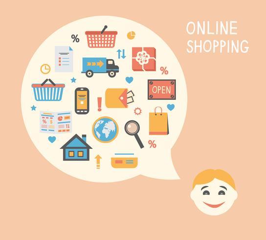 Online-Shopping-Innovationsidee vektor
