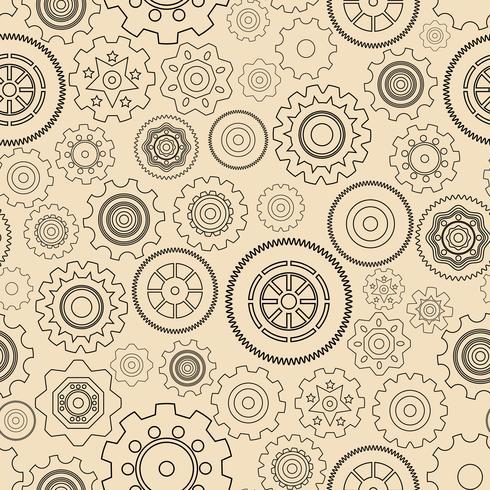 Sömlöst växelhjulmönster vektor