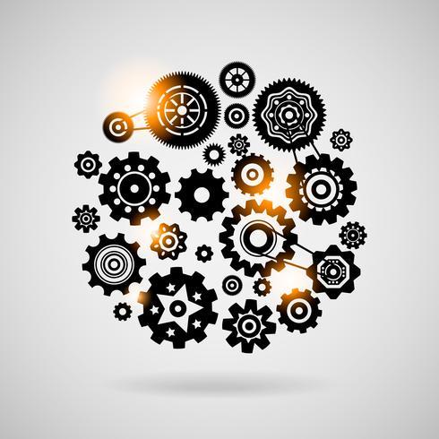 kuggar och kugghjul vektor
