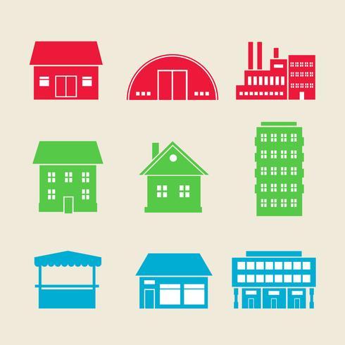 Gebäude-Icons vektor