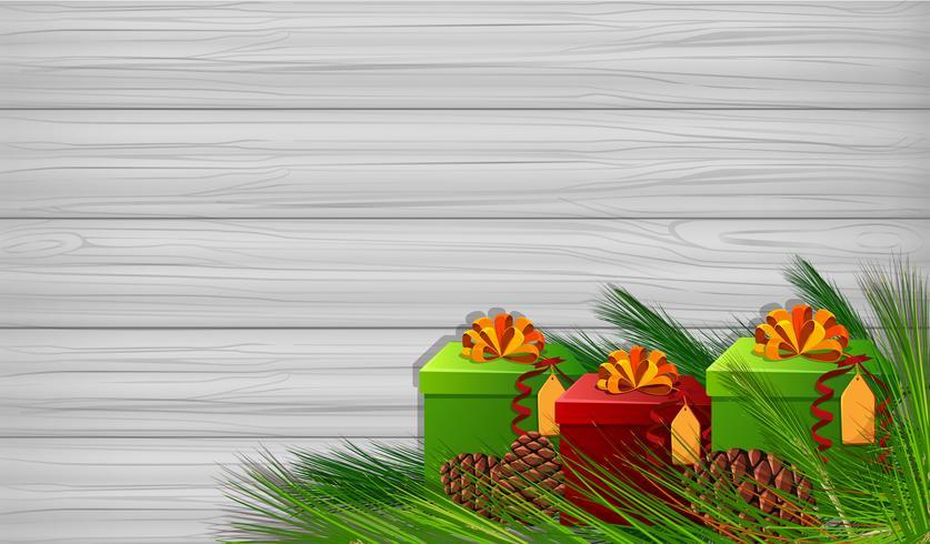 Bakgrundsmall med julklappar vektor