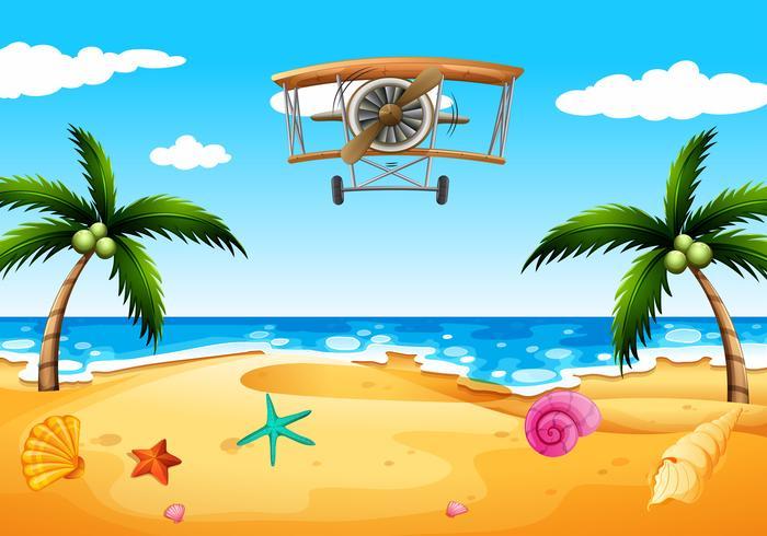 Ett tapplan på stranden vektor