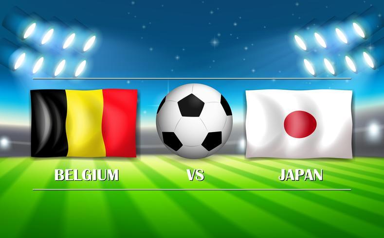 Belgien VS Japan mall vektor