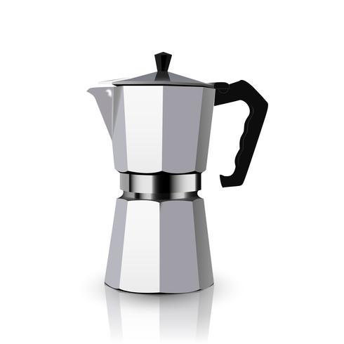 Italiensk metallisk kaffebryggare vektor