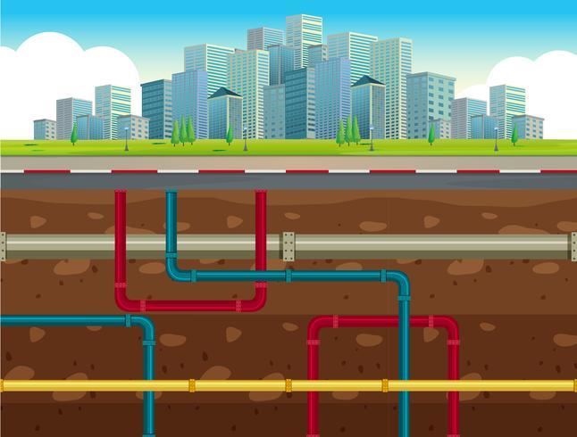 Das unterirdische Wasserleitungssystem vektor