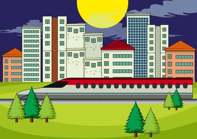 En transport i modern stad vektor