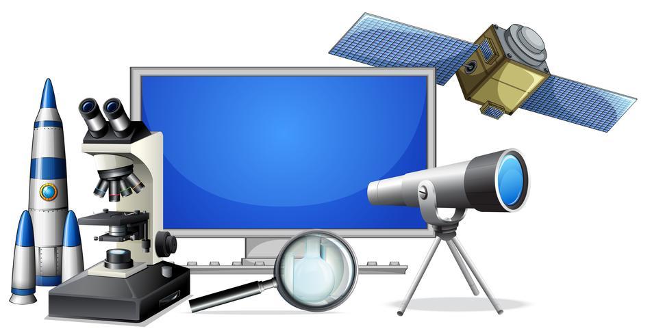 En uppsättning av science research utrustning vektor
