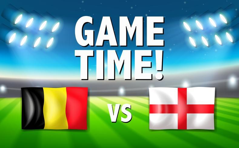 Belgien VS England mall vektor