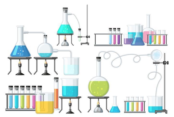 Sats av vetenskap utrustning vektor