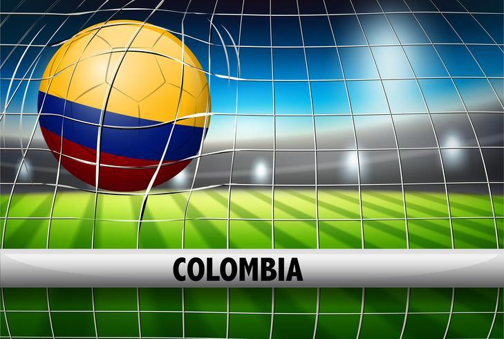 Columbia fotboll boll flagga vektor