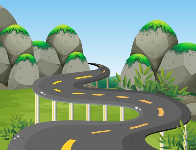 Vägen till berget vektor
