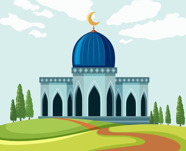 En vacker moské i naturen vektor