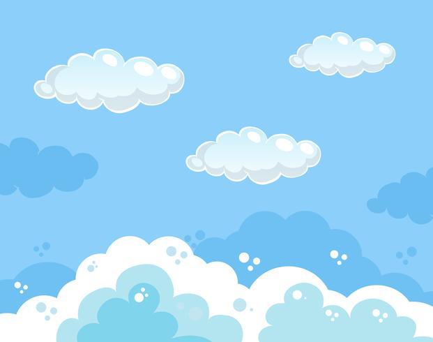 Vacker klar blå himmel bakgrund vektor