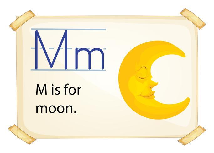 Ett brev M för månen vektor