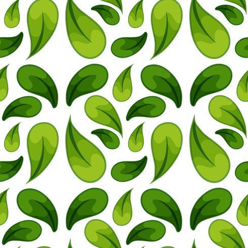 Grön blad sömlös bakgrund vektor