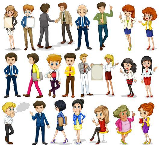 En grupp affärsinriktade människor vektor