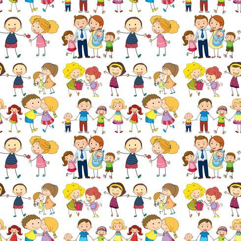Sömlös familj vektor