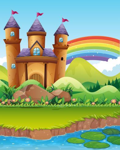 Slottstorn vid dammen vektor