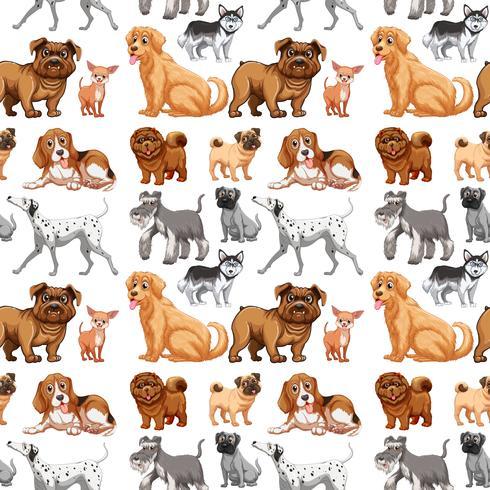 Sömlösa hundar vektor