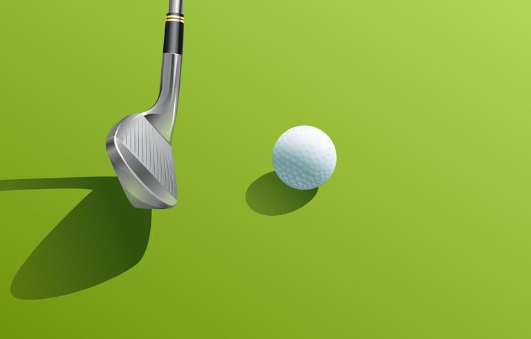 Järn och boll golf vektor