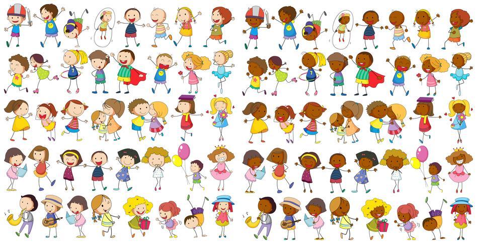 Kinder kulturell vektor