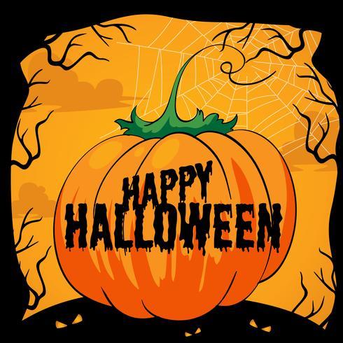 Halloween tema med pumpa vektor
