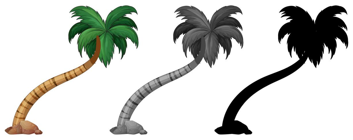 Set av palmer vektor