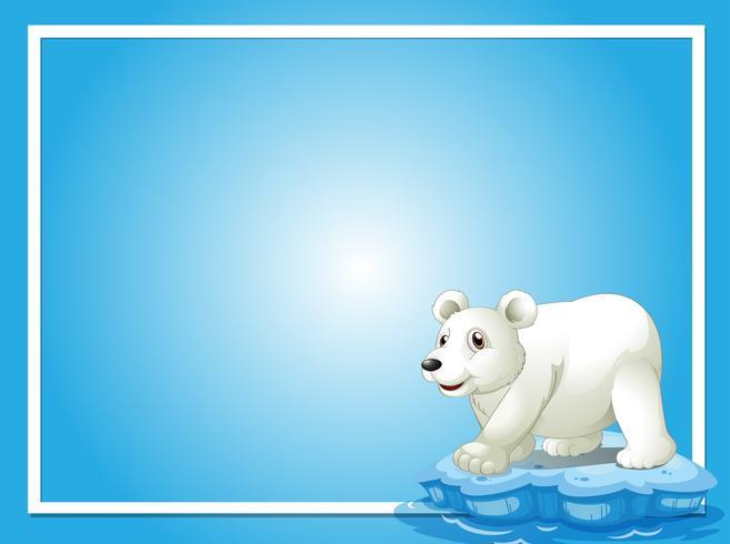 Ram mall med söt isbjörn vektor
