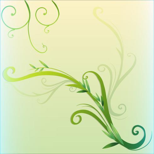 Grön vinbladgränsdesign vektor