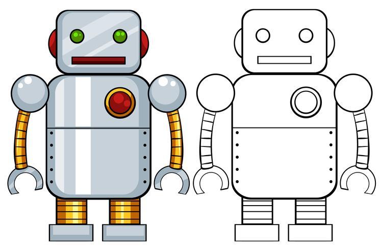 Robot leksak vektor