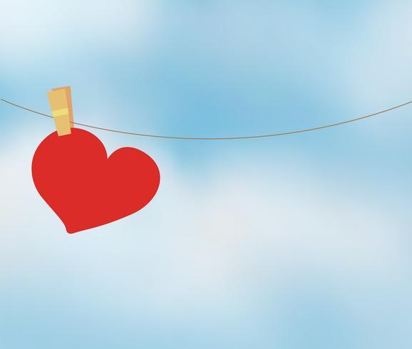 Hjärta och himmel vektor