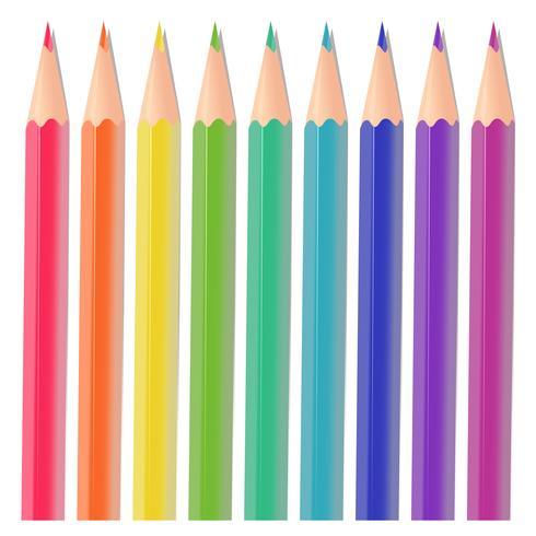 Färgpennor vektor
