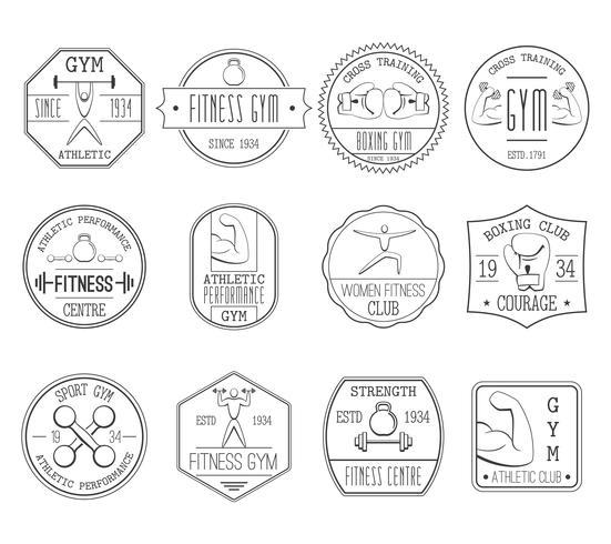 Fitness och sportlogotyp vektor