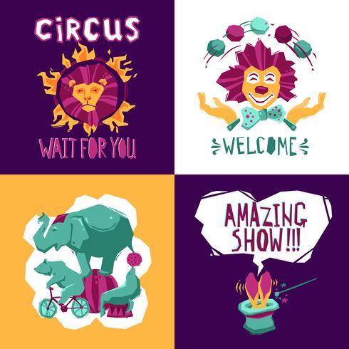 cirkus designkoncept vektor