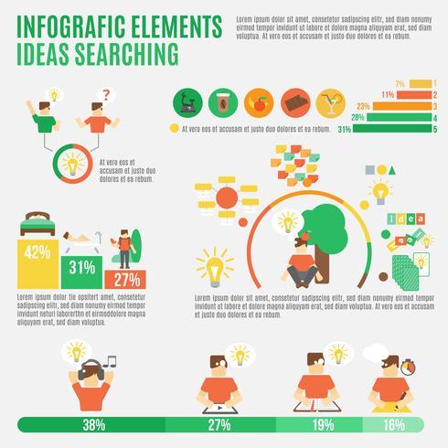 Ideen Infographik Set vektor