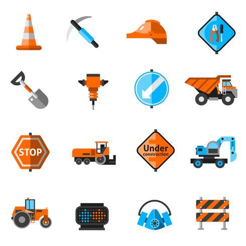 Straßenreparatur-Symbole vektor