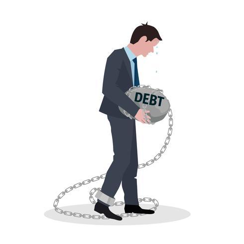 Geschäftsschulden-Konzept vektor