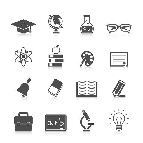 Bildung-Icon-Set vektor