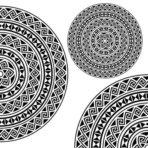 Monochromatische ethnische Texturen. vektor