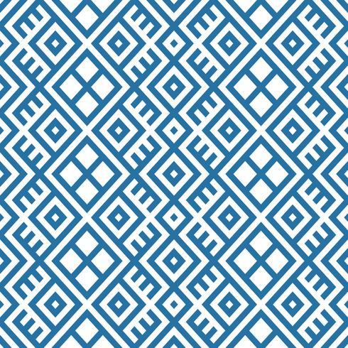 geometrisk sömlös etnisk mönster bakgrund i blå och vita färger vektor