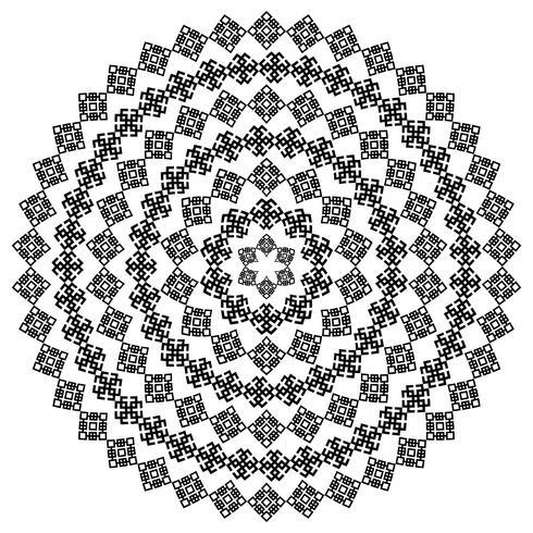 Runde dekorative vektorform getrennt auf Weiß. vektor
