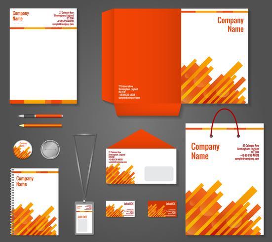 Geschäftsbriefpapierschablone der geometrischen Technologie vektor