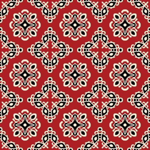 Rotes Stammes- ethnisches nahtloses Muster vektor
