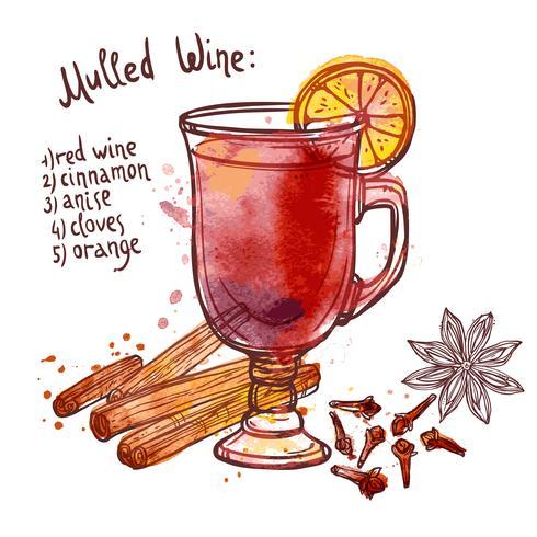 mulled wine set vektor