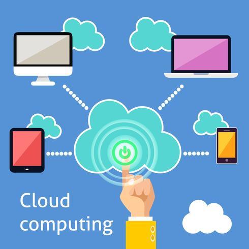 Cloud-Computing-Infografik vektor